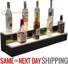 Bar Bottle Display Stand Simple 332 32 Step LED Lighted Glowing Liquor Bottle Display Shelf Home Back