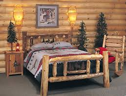 full size of rustic log bedroom furniture varnished wood king size bed grain frame wall mirror