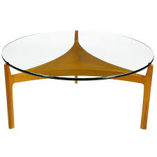 Teak And Glass Coffee Table Danish Teak And Glass Coffee Table By Sven Ellekaer At 1stdibs