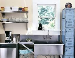 reuse kitchen stainless restaurant sink and counter old lockers