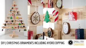 DIY | Christmas Ornaments including Hydro Dipping and wood burning