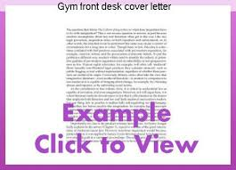 front desk cover letters gym front desk cover letter research paper help