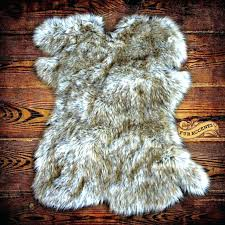 red faux fur rug faux fur sheepskin rug grey tipped delivery over on home and living