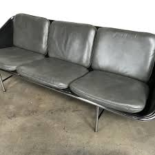gray leather couch. George Nelson Gray Leather Sling Sofa By Svezia, Beckman \u0026 Harper Couch D