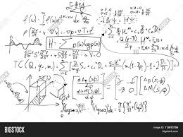 complex math formulas on whiteboard mathematics and science with economics concept real equations
