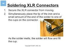 how to er v  ering xlr connectors