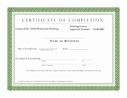 Certificate Templates In Word Format Fresh Template Training