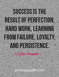 Quotes About Success And Hard Work Amazing Life Quote Success Is The Result Of Perfection Hard Work
