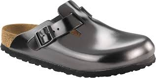 com birkenstock women s boston soft footbed anthracite leather clogs 38 n us women s 7 7 5 mules clogs