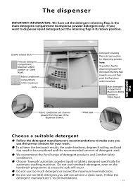 hotpoint washing machine where to put powder. Beautiful Put The Dispenser Choose A Suitable Detergent  Hotpoint Aquarius Range WMS39  User Manual Page 13  24 With Washing Machine Where To Put Powder 0