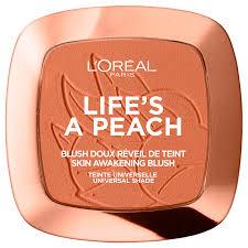 l oréal paris blush powder lifes a peach 9g lookfantastic
