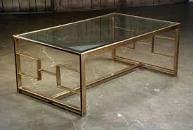 Nice Bronze Geometric Frame Coffee Table