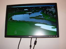 picture of a computer use an lcd monitor as a tv without a computer