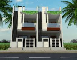 Ground And First Floor House Elevation Designs Row House Ground First Floor Elevation House Elevation