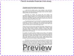 french revolution financial crisis essay term paper academic  french revolution financial crisis essay french revolution essay country in the late 1780 s a