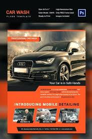 Free Auto Detailing Brochure Template Example Car Wash Flyer Royal ...