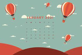 January 2021 Calendar for Desktop ...