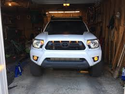 Tacoma Grill Lights Install I Put Raptor Lights In Last Night Yay Or Nay Toyotatacoma