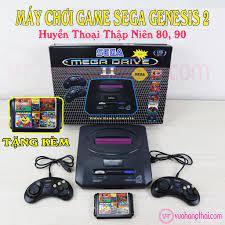 ☎◕Máy Chơi Game 6 Nút Sega Mega Drive 16Bit Thế Hệ 2 - Tặng Kèm Băng 11 Game