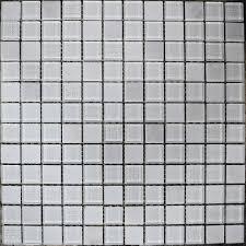 homelux glacier mosaic tiles glass white mosaic squares