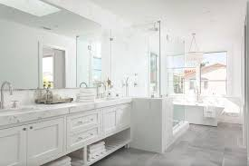 white master bathroom designs. Contemporary White White Master Bathroom With Gray Tiled Floors For Designs