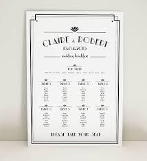 Art Deco Estelle Wedding Table Plan By Project Pretty