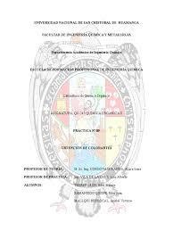 Pr Ctica N 9 De Quimica Organica Ii 2016