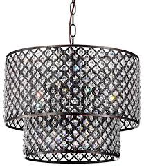 marya 8 light round drum crystal chandelier ceiling fixture oil rubbed bronze