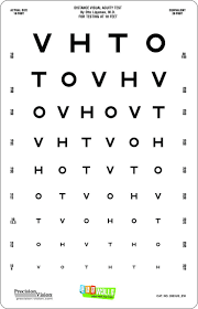 Eye Chart Letters Amazon Com Kids Peel Stick Eye Chart With Sloan Letters