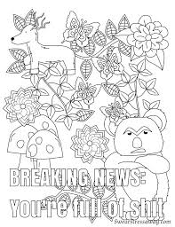 Coloring Page Adult Swear Word Coloring Pages Printable Free With