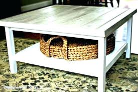 white coffee table with baskets storage under for basket underneath large