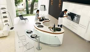 Modern Venere Curved Kitchen Islands 1