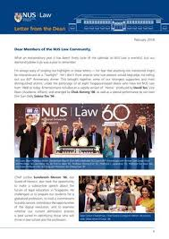Letter From The Dean 2018 By Nus Law Issuu