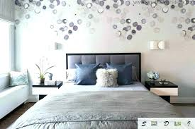 purple and gray bedroom wall decor