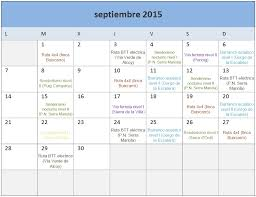 Calendario De Actividades Mes De Septiembre Trail Natura