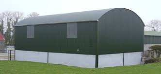 curved roofing sheets on a barn building in newcastle upon tyne