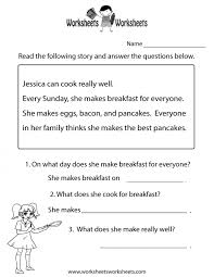 Math. reading comprehension first grade worksheets: Reading ...