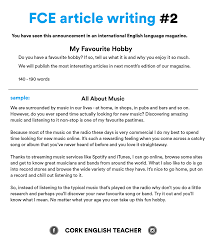 First Certificate Exam Fce Article Writing 2 My Favourite