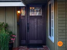 craftsman 36 x80 single entry door with sidelight plastpro drf3c fiberglass fir