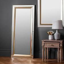 phantom full length leaner wall mirror venetian glass frame gold edge 62