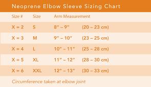 Elbow Sleeve Size Chart Neoprene Elbow Sleeve Breg Inc