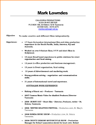 Sample Resume Template Film Production Resume Template learnhowtoloseweightnet 92