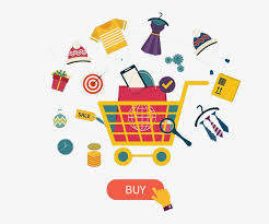 Online Clipart Online Shopping Shopping Cart Commodity Network Element Png Image