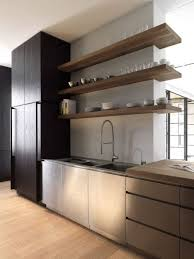 Modern kitchen with open shelves