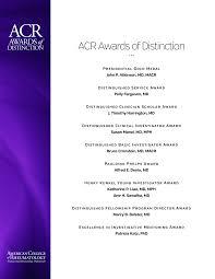 ACR Awards of Distinction