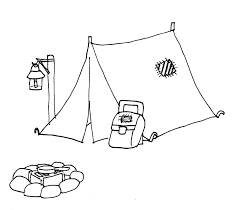 Small Picture Tent clipart coloring page Pencil and in color tent clipart