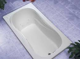 drop in tub in white