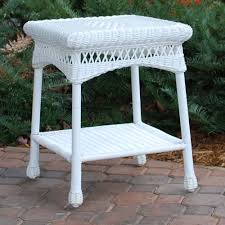 mind blowing outdoor living space decoration using outdoor wicker side table alluring outdoor living space