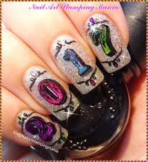 Nail Art Different Designs On Each Finger Uberchic Beauty Numbers 01 New Years Nails New Years