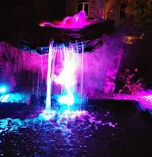 pool waterfall lighting. Excellent Lighting And Fog Of Our Beautiful Grotto Waterfalls For After Hour Enjoyment A Water Pool Waterfall
